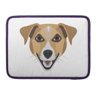 Illustration Dog Smiling Terrier Sleeve For MacBook Pro