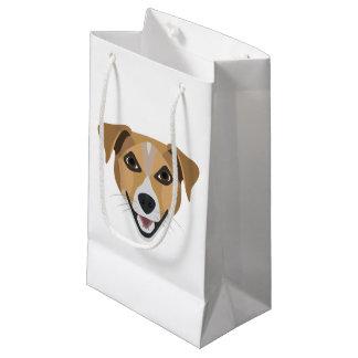 Illustration Dog Smiling Terrier Small Gift Bag