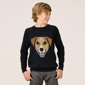 Illustration Dog Smiling Terrier Sweatshirt