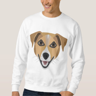 Illustration Dog Smiling Terrier Sweatshirt