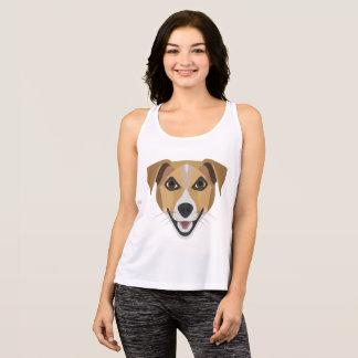 Illustration Dog Smiling Terrier Tank Top