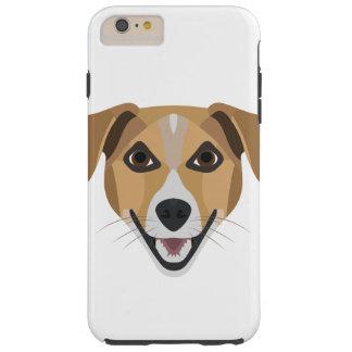 Illustration Dog Smiling Terrier Tough iPhone 6 Plus Case