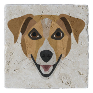 Illustration Dog Smiling Terrier Trivet