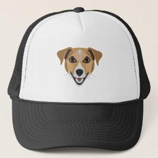Illustration Dog Smiling Terrier Trucker Hat