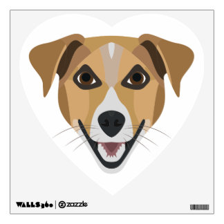 Illustration Dog Smiling Terrier Wall Decal
