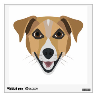Illustration Dog Smiling Terrier Wall Sticker