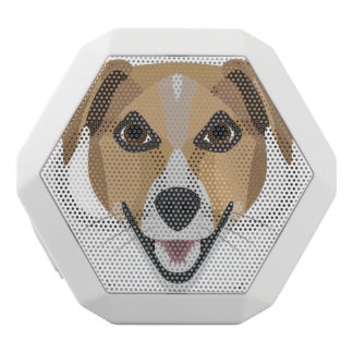 Illustration Dog Smiling Terrier White Bluetooth Speaker