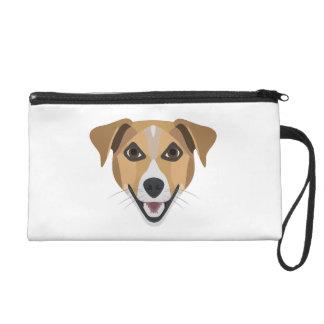 Illustration Dog Smiling Terrier Wristlet