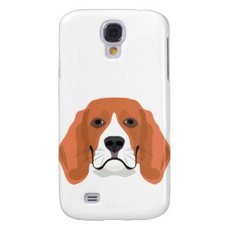 Illustration dogs face Beagle
