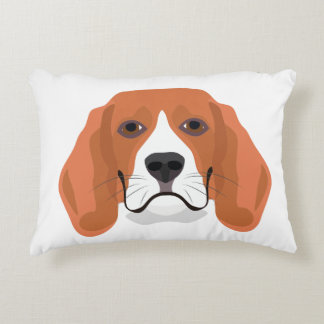 Illustration dogs face Beagle Accent Pillow