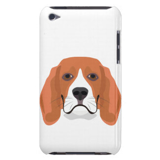 Illustration dogs face Beagle Barely There iPod Cover