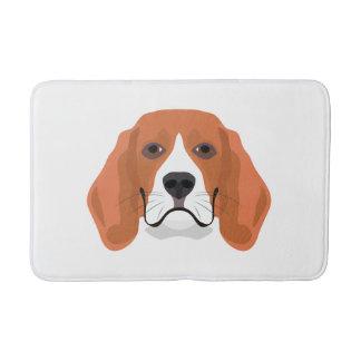 Illustration dogs face Beagle Bath Mat