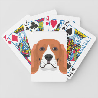 Illustration dogs face Beagle Bicycle Playing Cards