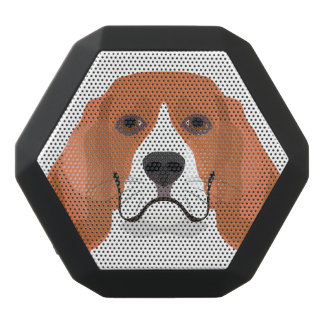 Illustration dogs face Beagle Black Bluetooth Speaker