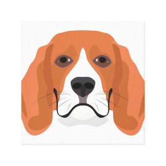 Illustration dogs face Beagle Canvas Print