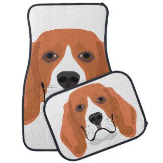 Illustration dogs face Beagle Car Mat