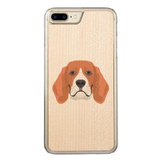 Illustration dogs face Beagle Carved iPhone 8 Plus/7 Plus Case