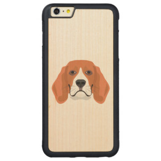 Illustration dogs face Beagle Carved Maple iPhone 6 Plus Bumper Case