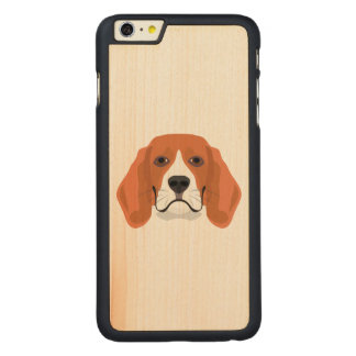 Illustration dogs face Beagle Carved Maple iPhone 6 Plus Case