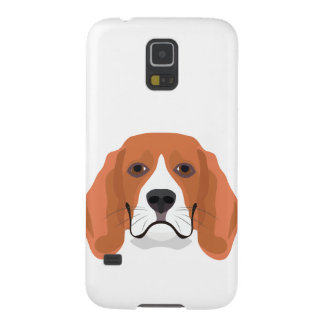 Illustration dogs face Beagle Case For Galaxy S5