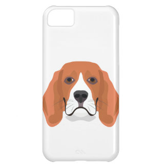 Illustration dogs face Beagle Case For iPhone 5C