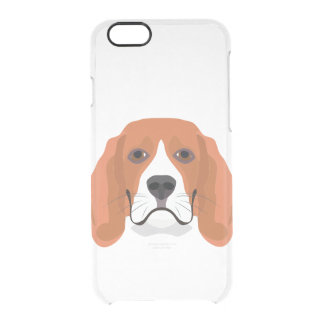 Illustration dogs face Beagle Clear iPhone 6/6S Case