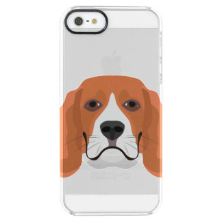Illustration dogs face Beagle Clear iPhone SE/5/5s Case