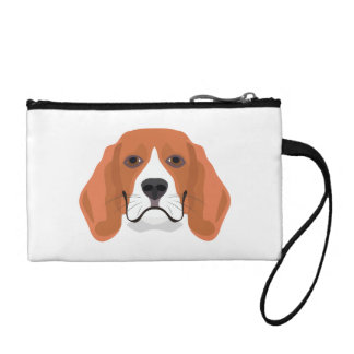 Illustration dogs face Beagle Coin Purse