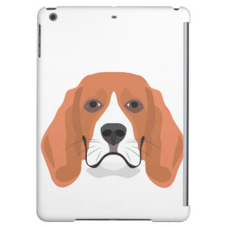 Illustration dogs face Beagle Cover For iPad Air