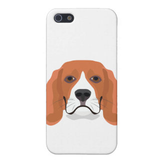 Illustration dogs face Beagle Cover For iPhone 5/5S