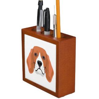Illustration dogs face Beagle Desk Organizer