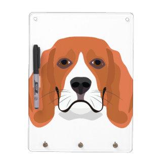 Illustration dogs face Beagle Dry Erase Board