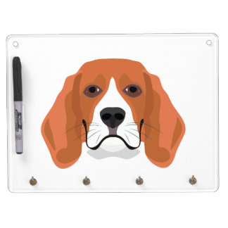 Illustration dogs face Beagle Dry Erase Board With Keychain Holder