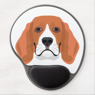 Illustration dogs face Beagle Gel Mouse Pad