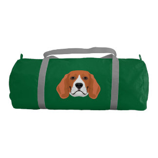 Illustration dogs face Beagle Gym Bag