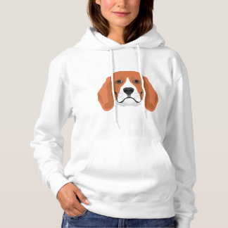 Illustration dogs face Beagle Hoodie