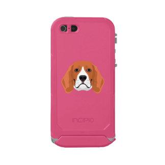 Illustration dogs face Beagle Incipio ATLAS ID™ iPhone 5 Case