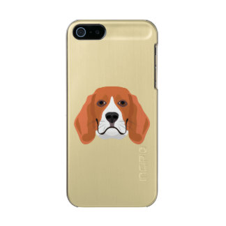 Illustration dogs face Beagle Incipio Feather® Shine iPhone 5 Case
