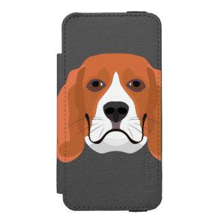 Illustration dogs face Beagle Incipio Watson™ iPhone 5 Wallet Case