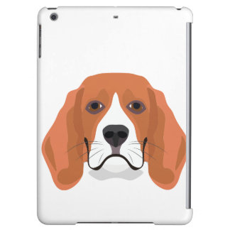 Illustration dogs face Beagle iPad Air Case