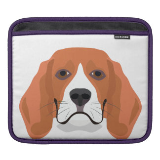 Illustration dogs face Beagle iPad Sleeve