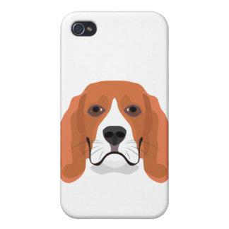Illustration dogs face Beagle iPhone 4/4S Case
