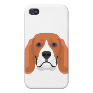 Illustration dogs face Beagle iPhone 4 Case