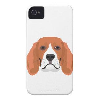 Illustration dogs face Beagle iPhone 4 Case-Mate Case