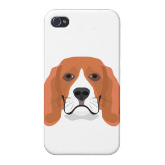 Illustration dogs face Beagle iPhone 4 Cover