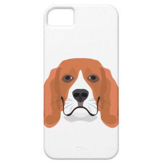 Illustration dogs face Beagle iPhone 5 Case