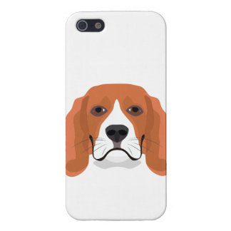 Illustration dogs face Beagle iPhone 5 Cases