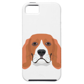 Illustration dogs face Beagle iPhone 5 Covers