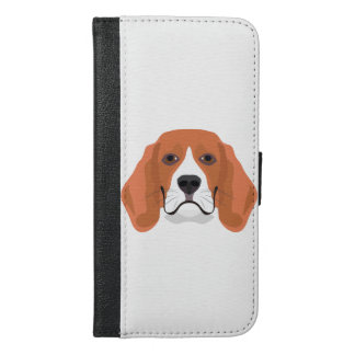 Illustration dogs face Beagle iPhone 6/6s Plus Wallet Case