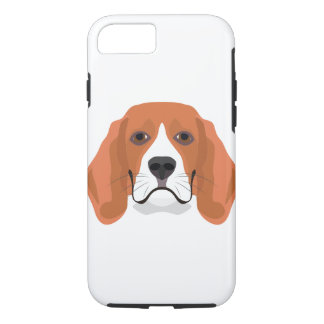 Illustration dogs face Beagle iPhone 8/7 Case